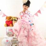 大阪の七五三写真撮影スタジオ・ハニーアンドクランチの7歳女の子ドレス・洋装のフォトギャラリーE220