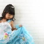 大阪の七五三写真撮影スタジオ・ハニーアンドクランチの7歳女の子ドレス・洋装のフォトギャラリーE221