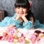 大阪の七五三写真撮影スタジオ・ハニーアンドクランチの7歳女の子ドレス・洋装のフォトギャラリーE222