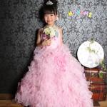 大阪の七五三写真撮影スタジオ・ハニーアンドクランチの7歳女の子ドレス・洋装のフォトギャラリーE224