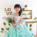 大阪の七五三写真撮影スタジオ・ハニーアンドクランチの7歳女の子ドレス・洋装のフォトギャラリーE225