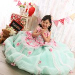 大阪の七五三写真撮影スタジオ・ハニーアンドクランチの7歳女の子ドレス・洋装のフォトギャラリーE227