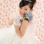 大阪の七五三写真撮影スタジオ・ハニーアンドクランチの7歳女の子ドレス・洋装のフォトギャラリーE230