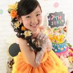 大阪の七五三写真撮影スタジオ・ハニーアンドクランチの7歳女の子ドレス・洋装のフォトギャラリーE231