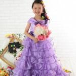 大阪の七五三写真撮影スタジオ・ハニーアンドクランチの7歳女の子ドレス・洋装のフォトギャラリーE232