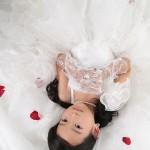大阪の七五三写真撮影スタジオ・ハニーアンドクランチの7歳女の子ドレス・洋装のフォトギャラリーE235