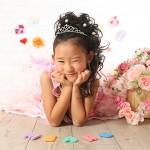 大阪の七五三写真撮影スタジオ・ハニーアンドクランチの7歳女の子ドレス・洋装のフォトギャラリーE237