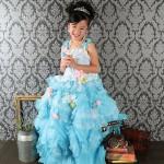 大阪の七五三写真撮影スタジオ・ハニーアンドクランチの7歳女の子ドレス・洋装のフォトギャラリーE239