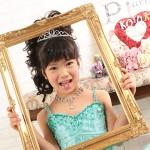 大阪の七五三写真撮影スタジオ・ハニーアンドクランチの7歳女の子ドレス・洋装のフォトギャラリーE242