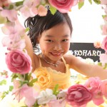 大阪の七五三写真撮影スタジオ・ハニーアンドクランチの7歳女の子ドレス・洋装のフォトギャラリーE244