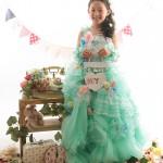 大阪の七五三写真撮影スタジオ・ハニーアンドクランチの7歳女の子ドレス・洋装のフォトギャラリーE247