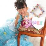 大阪の七五三写真撮影スタジオ・ハニーアンドクランチの7歳女の子ドレス・洋装のフォトギャラリーE249