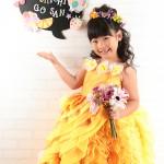 大阪の七五三写真撮影スタジオ・ハニーアンドクランチの7歳女の子ドレス・洋装のフォトギャラリーE250