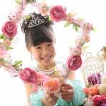 大阪の七五三写真撮影スタジオ・ハニーアンドクランチの7歳女の子ドレス・洋装のフォトギャラリーB252