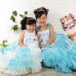 大阪の七五三写真撮影スタジオ・ハニーアンドクランチの7歳女の子ドレス・洋装のフォトギャラリーE255