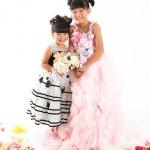 大阪の七五三写真撮影スタジオ・ハニーアンドクランチの7歳女の子ドレス・洋装のフォトギャラリーE256