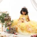 大阪の七五三写真撮影スタジオ・ハニーアンドクランチの7歳女の子ドレス・洋装のフォトギャラリーE258