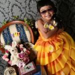 大阪の七五三写真撮影スタジオ・ハニーアンドクランチの7歳女の子ドレス・洋装のフォトギャラリーE263