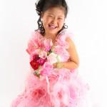 大阪の七五三写真撮影スタジオ・ハニーアンドクランチの7歳女の子ドレス・洋装のフォトギャラリーE265