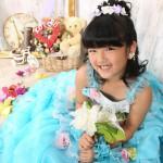 大阪の七五三写真撮影スタジオ・ハニーアンドクランチの7歳女の子ドレス・洋装のフォトギャラリーE266