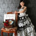 大阪の七五三写真撮影スタジオ・ハニーアンドクランチの7歳女の子ドレス・洋装のフォトギャラリーE267
