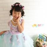 大阪の七五三写真撮影スタジオ・ハニーアンドクランチの7歳女の子ドレス・洋装のフォトギャラリーE268