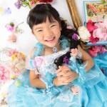 大阪の七五三写真撮影スタジオ・ハニーアンドクランチの7歳女の子ドレス・洋装のフォトギャラリーE271