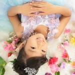 大阪の七五三写真撮影スタジオ・ハニーアンドクランチの7歳女の子ドレス・洋装のフォトギャラリーE274