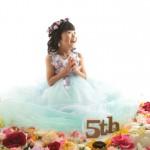 大阪の七五三写真撮影スタジオ・ハニーアンドクランチの7歳女の子ドレス・洋装のフォトギャラリーE276