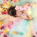 大阪の七五三写真撮影スタジオ・ハニーアンドクランチの7歳女の子ドレス・洋装のフォトギャラリーE278
