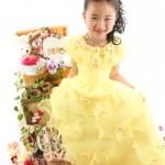 大阪の七五三写真撮影スタジオ・ハニーアンドクランチの7歳女の子ドレス・洋装のフォトギャラリーE283
