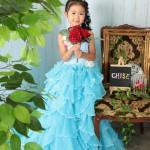 大阪の七五三写真撮影スタジオ・ハニーアンドクランチの7歳女の子ドレス・洋装のフォトギャラリーE284