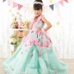大阪の七五三写真撮影スタジオ・ハニーアンドクランチの7歳女の子ドレス・洋装のフォトギャラリーE289