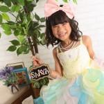 大阪の七五三写真撮影スタジオ・ハニーアンドクランチの7歳女の子ドレス・洋装のフォトギャラリーE290