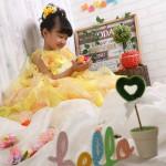 大阪の七五三写真撮影スタジオ・ハニーアンドクランチの7歳女の子ドレス・洋装のフォトギャラリーE291