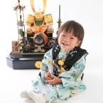 大阪の初節句・ハーフバースディ写真撮影スタジオ・ハニーアンドクランチの和装のフォトギャラリーHW178