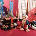 大阪の初節句・ハーフバースディ写真撮影スタジオ・ハニーアンドクランチの和装のフォトギャラリーHW191