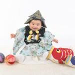 大阪の初節句・ハーフバースディ写真撮影スタジオ・ハニーアンドクランチの和装のフォトギャラリーHW193