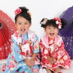 大阪の七五三写真撮影スタジオ・ハニーアンドクランチの3歳女の子和装のフォトギャラリーA209