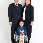 カッチリご家族写真。
