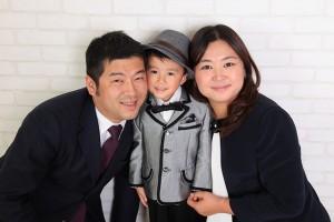 ナチュラルにご家族写真。