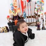 大阪の初節句・ハーフバースディ写真撮影スタジオ・ハニーアンドクランチの和装のフォトギャラリーHW001