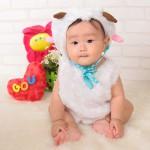 大阪の初節句・ハーフバースディ写真撮影スタジオ・ハニーアンドクランチの洋装のフォトギャラリーH021