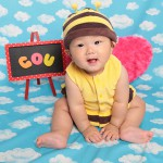 大阪の初節句・ハーフバースディ写真撮影スタジオ・ハニーアンドクランチの洋装のフォトギャラリーH022