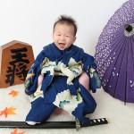 大阪の初節句・ハーフバースディ写真撮影スタジオ・ハニーアンドクランチの和装のフォトギャラリーHW030