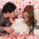 大阪の初節句・ハーフバースディ写真撮影スタジオ・ハニーアンドクランチの洋装のフォトギャラリーH033