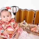 大阪の初節句・ハーフバースディ写真撮影スタジオ・ハニーアンドクランチの和装のフォトギャラリーHW045