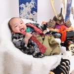 大阪の初節句・ハーフバースディ写真撮影スタジオ・ハニーアンドクランチの和装のフォトギャラリーHW046