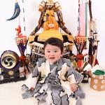 大阪の初節句・ハーフバースディ写真撮影スタジオ・ハニーアンドクランチの和装のフォトギャラリーHW047