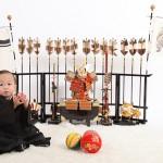 大阪の初節句・ハーフバースディ写真撮影スタジオ・ハニーアンドクランチの和装のフォトギャラリーHW048